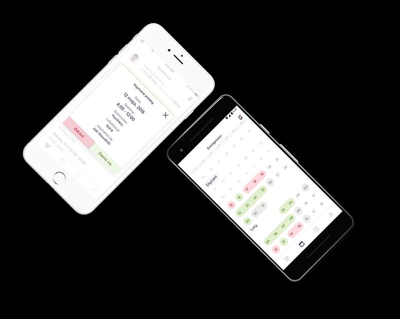 Aplikacja mobilna dla pracownika na urządzenia z systemem iOS i Android
