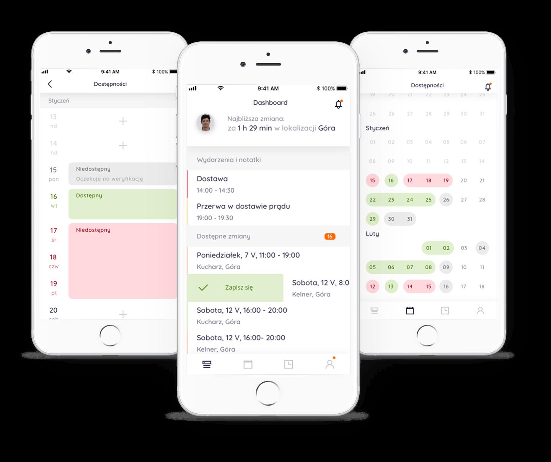 Aplikacja dla pracownika na iOS i Android
